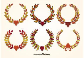 Autumn Leaf Wreath Vectors