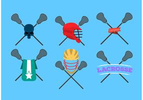 Lacrosse Sticks Logo Vectors