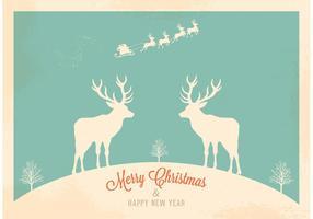Free Vector Retro Santa's Sleigh