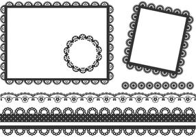 Free Vector Black Lace Frames And Borders