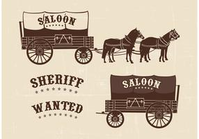 Free Covered Wagon Vector