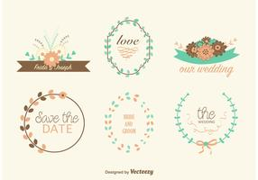 Hand Drawn Wedding Wreaths