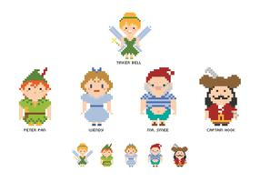 Free Pixel Peter Pan Characters Vector