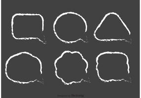 Chalk Drawn Speech Bubble Vector Pack