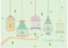 Vintage Bird Cage Vectors