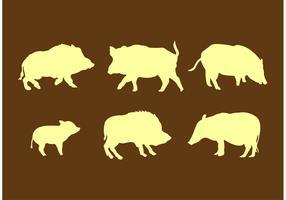 Wild Hog Silhouettes