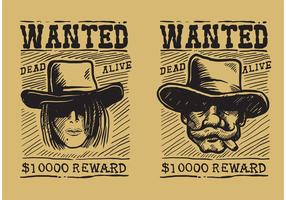 Wanted Old Poster