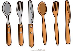 Wooden Utensil Vectors Pack