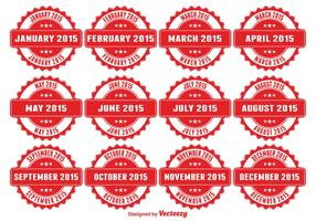 Months of the Year Badges