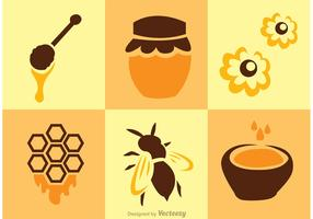Bee And Honey Vectors