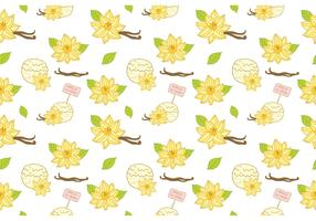 Free Vanilla Ice Cream Pattern Vector