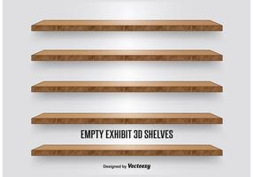 Wooden Display Shelves