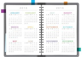 Calendar Notebook 2016