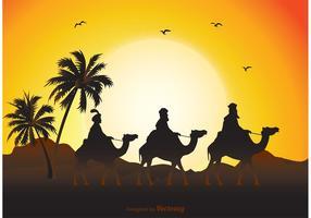 Three Wise Men Illustration