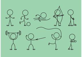Stick Figure Icons Sports