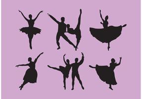 Set of Nutcracker Ballet Dancer Silhouettes