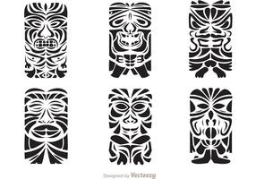 Tiki Totem Hawaiian Tribal Vectors