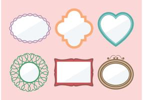 Shabby Chic Mirror Vectors