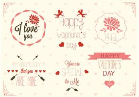 Free Valentine's Day Label Vectors