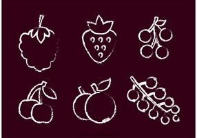 Chalk Drawn Berry Vector
