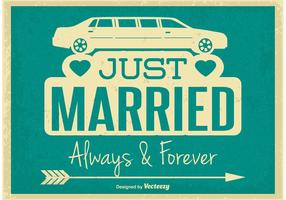 Retro Style Just Married Illustration