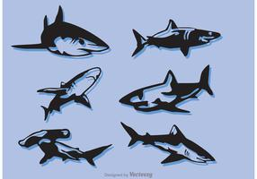 Set Of Shark Vectors