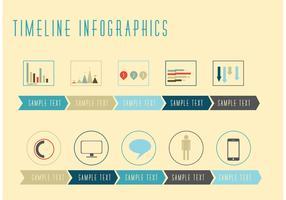 Línea de tiempo Vectores Infográficos