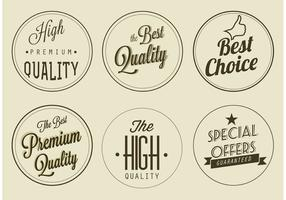 Free Vector Premium Quality Labels