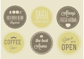 Free Vector Coffee Labels