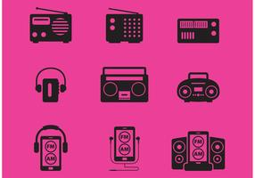 Radio Vector Icons