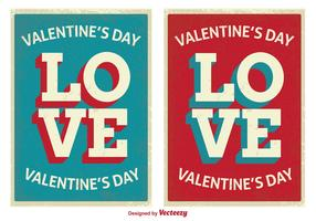 Retro Style Cute Valentine's Day Cards