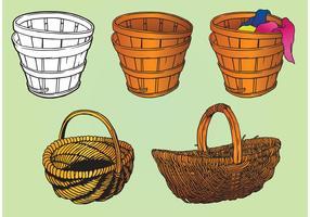 Old Basket Vectors