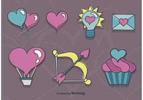 Sketchy Valentine Icons