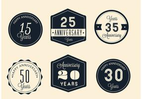 Free Vector Anniversary Signs