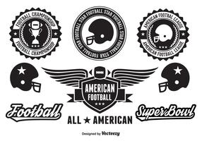 American Football Badges and Elements