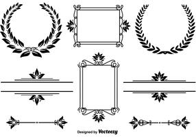 Elegant frames and wreaths