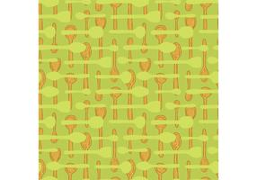 Free wooden spoon seamless pattern vector