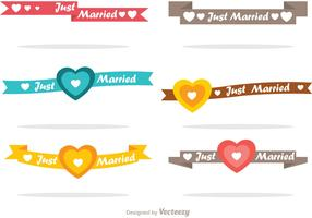Just Married Ribbons Vector