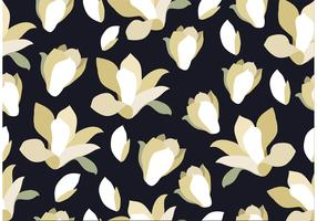 Seamless Black Floral Background
