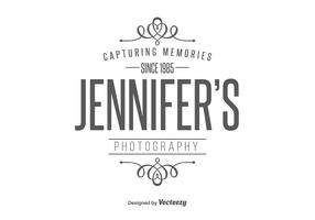 Photographer Retro Style Logo Template
