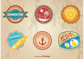 Summer Time Retro Stickers
