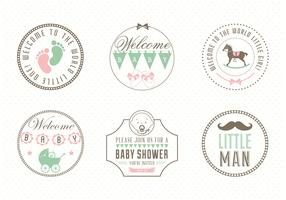 Free Baby Label Set Vector