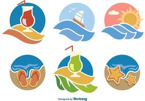 Summer Beach Vector Icons