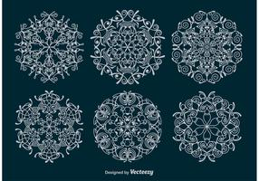 Ornamental Snowflakes Vectors