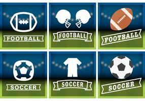 Football & Soccer Badge Vectors