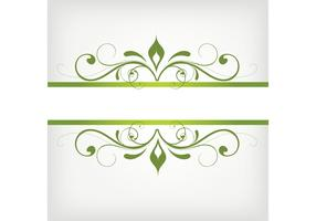 Green Swirly Frame Vector