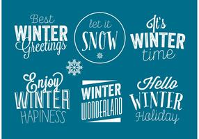 Winter badges