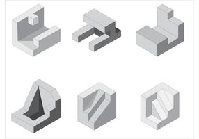 Free Isometric Vector Shapes