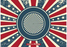 Patriotic Sunburst Grunge Background