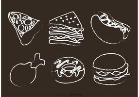 Chalk Drawn Food Vectors